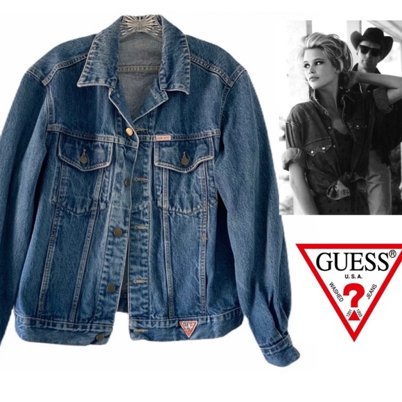 Guess by Marciano Jackets & Blazers - GEORGES MARCIANO FOR GUESS VINTAGE DENIM JACKET